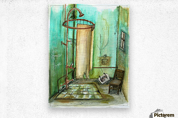 abandoned bathroom I  Metal print