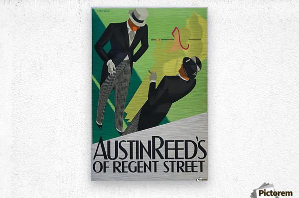 Austin Reed of Regent Street poster  Metal print