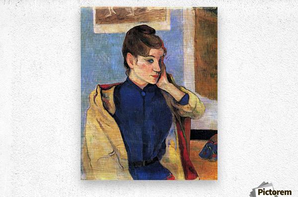 Madeleine Bernard by Gauguin  Metal print