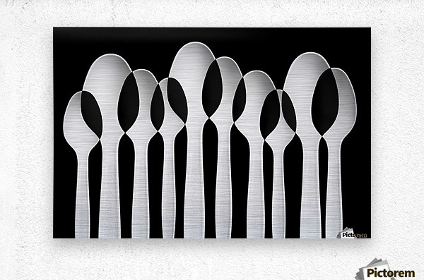 Spoons Abstract:  Forest  Metal print