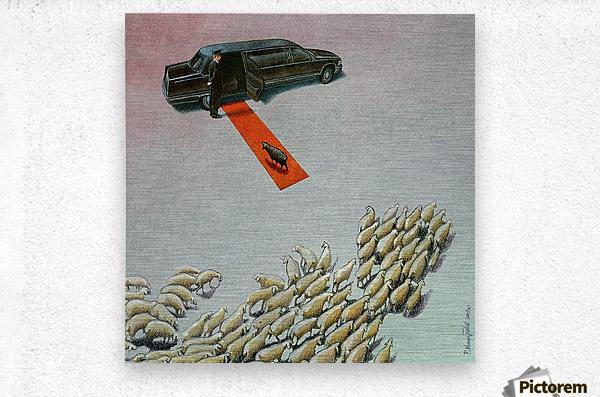 Black Sheep  Metal print