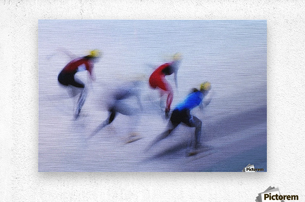 Speed Skating 1  Metal print