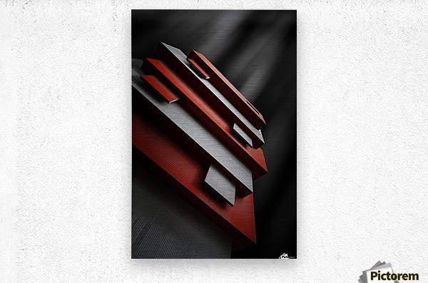red&white  Metal print