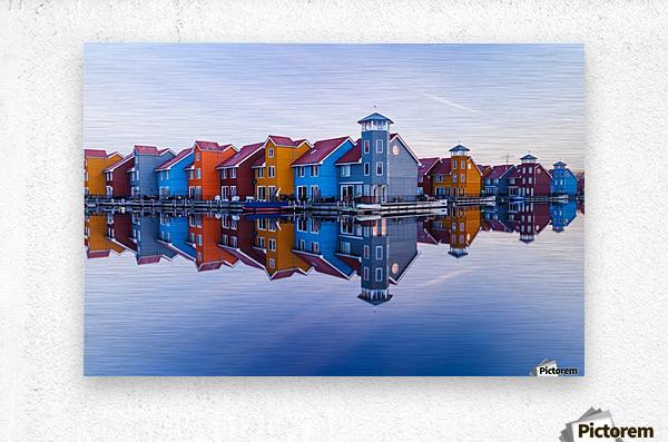 Colored homes  Metal print