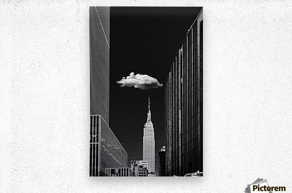 Single Cloud  Metal print