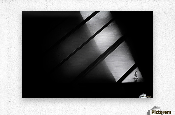 Crossing  Metal print