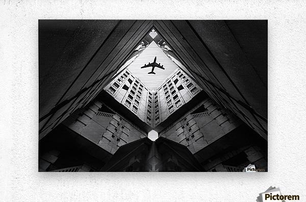Plane city  Metal print