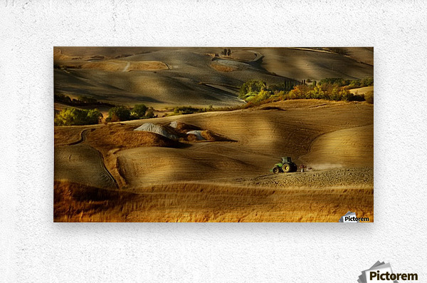 Preparation for sowing - Volterra (PI) - Toscana - Italy  Metal print