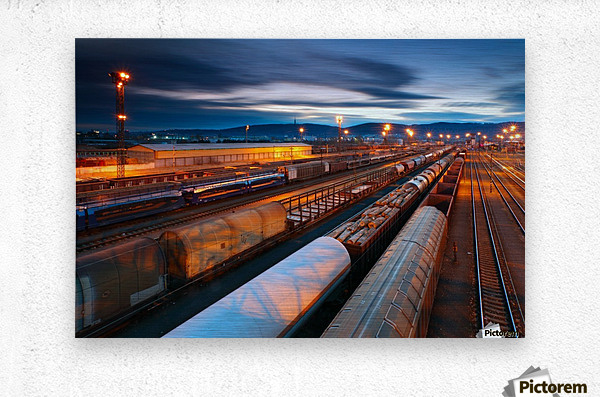 Freight station  Metal print