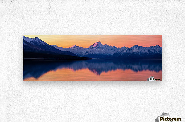 Mount Cook, New Zealand  Metal print