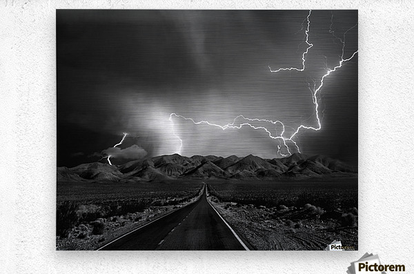 On the Road with the Thunder Gods  Metal print
