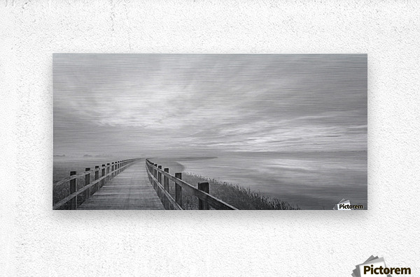 The long wooden footbridge.  Metal print