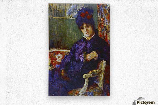 Seated Woman by Cassatt  Metal print