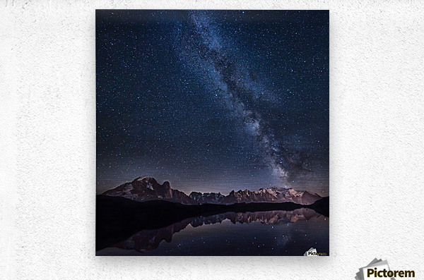 Lost in the stars  Metal print
