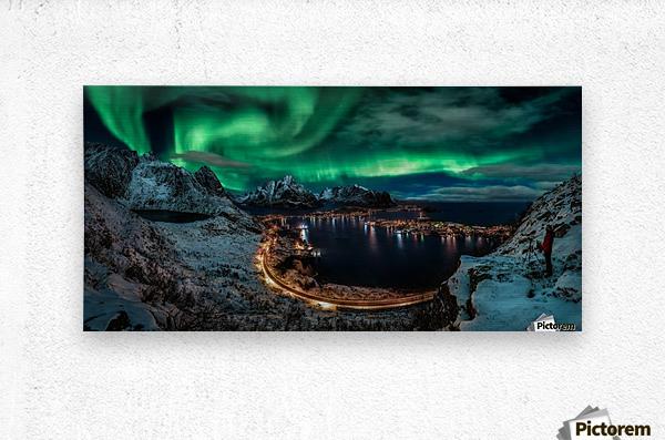 Chasing the Northern Lights  Metal print