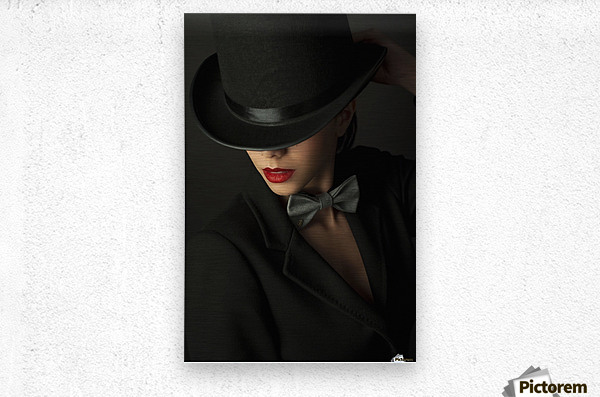 Mystery under the topper  Metal print