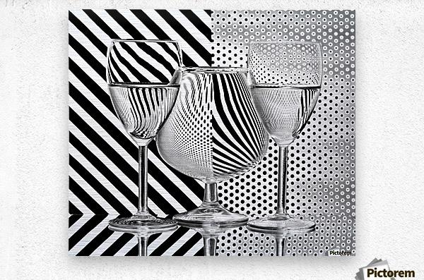Dots and stripes  Metal print