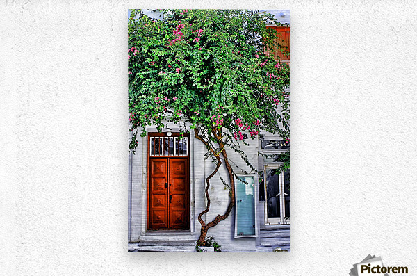 the door mykonos   Metal print