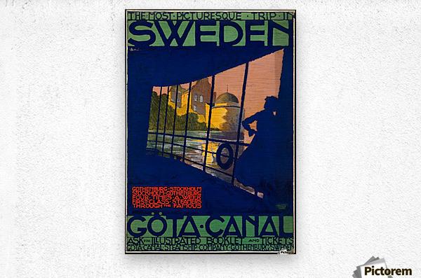 Sweden Gota Canal travel poster  Metal print