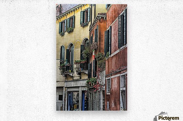 windows in Venice  Metal print