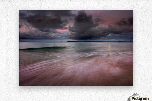 Carbis Bay moonlight  Metal print