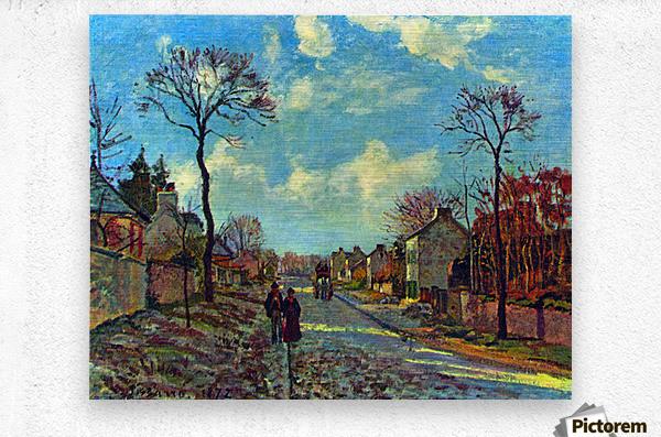 Strait of Louveciennes by Pissarro  Metal print
