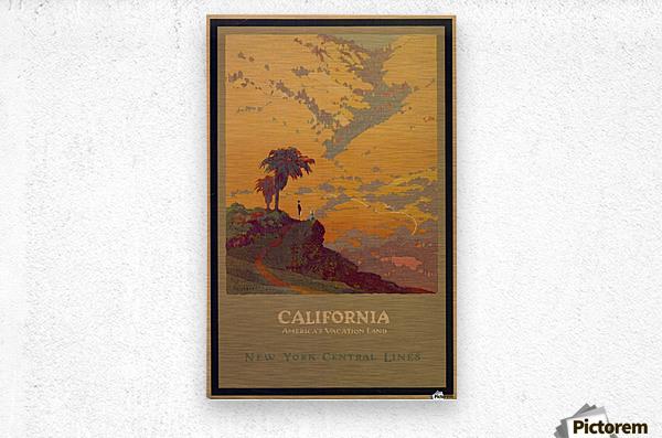 California American Vacation Land  Metal print