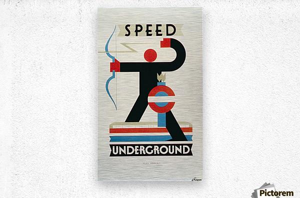 London Speed Underground poster  Metal print