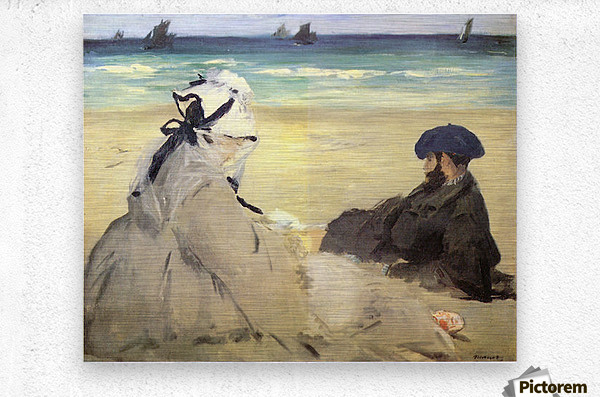 Sur_la_plage_1873 by Manet  Metal print