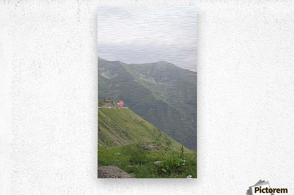 Landscape with mountain view at 2000 m altitude  Metal print
