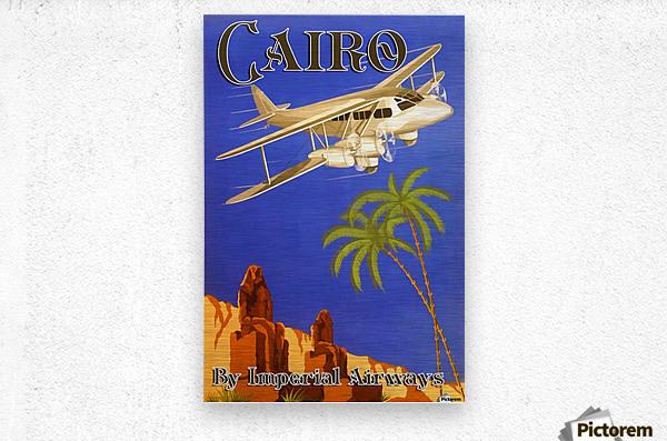 Cairo By Imperial Airways  Metal print