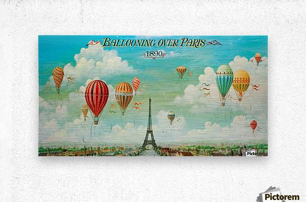 Ballooning over Paris  Metal print