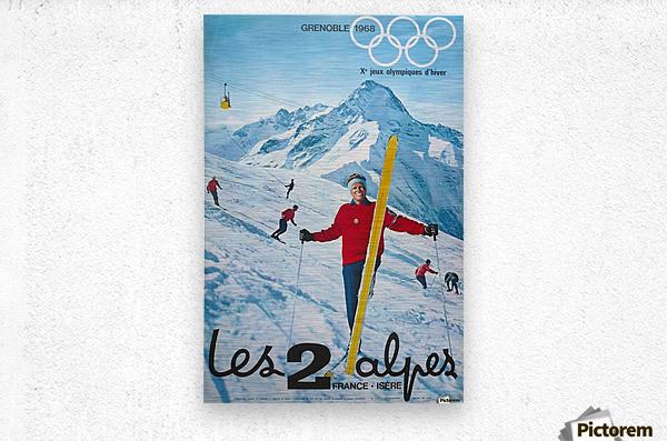 Olimpiade-ski Klasik Vintage Poster  Metal print