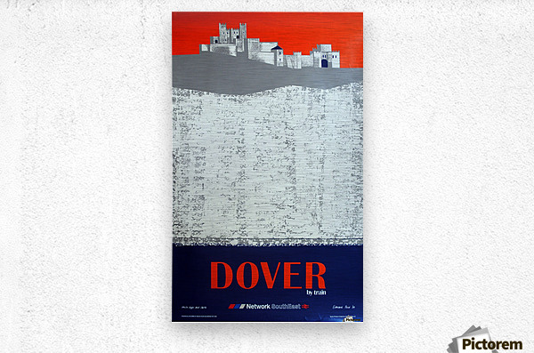 Dover by Train  Metal print
