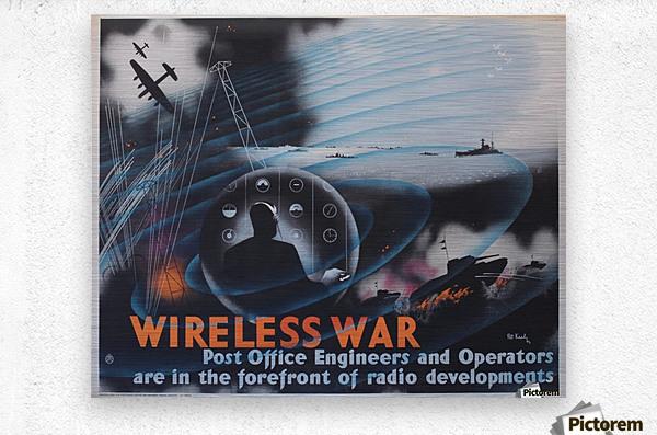 Wireless war  Metal print