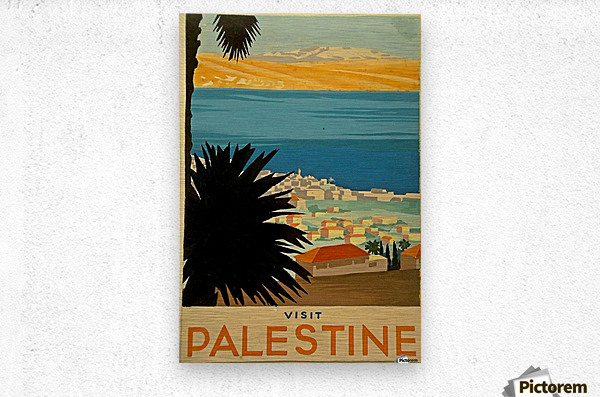 Visit Palestine  Metal print