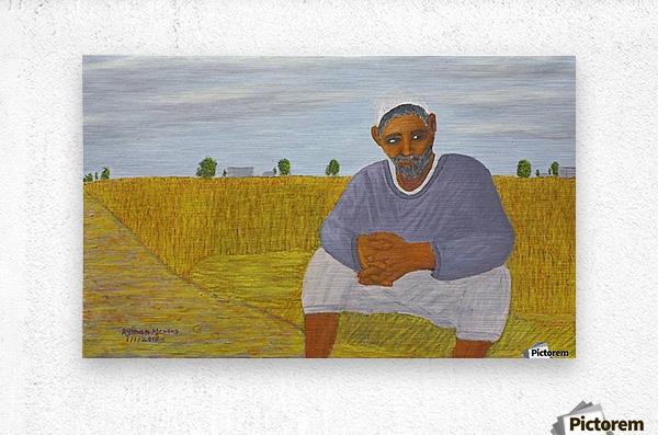 The wheat farmer  Metal print