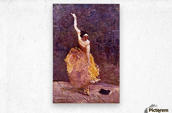 The Dancing Girl by Toulouse-Lautrec  Metal print