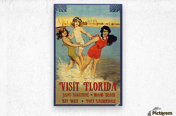 Visit Florida  Metal print