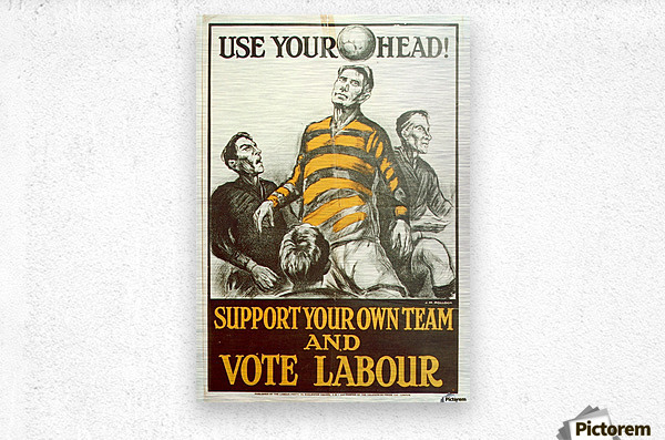 Labour Party Use Your Head 1923 poster  Metal print