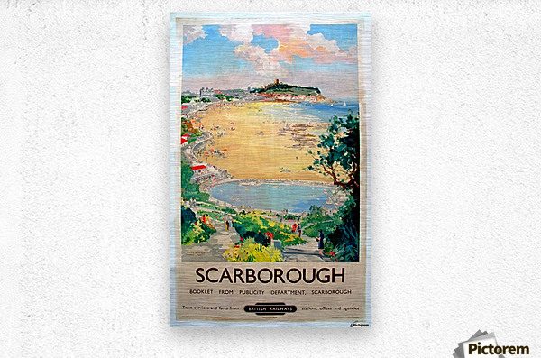 Original Railway Poster Scarborough  Metal print