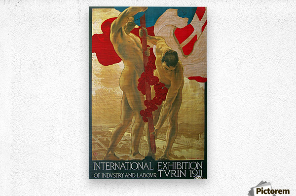International Exhibition of Industry and Labour Turin 1911  Metal print