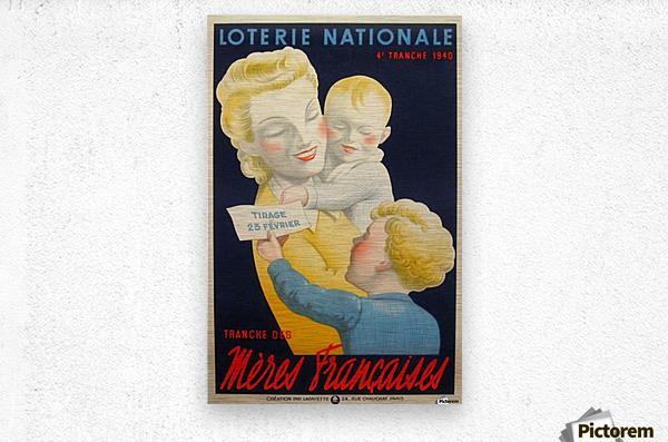 Loterie Nationale Tranche des Meres Francaises  Metal print