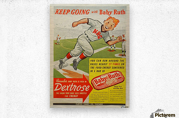 Keep going with Baby Ruth  Metal print