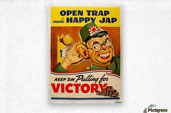 American anti Japanese propaganda from World War II  Metal print