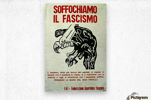 Suffocate fascism  Metal print