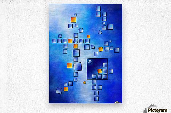Cublerossia V1 - falling cubes  Metal print