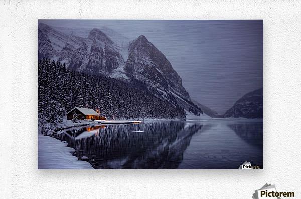 Winter Lake Louise   Metal print