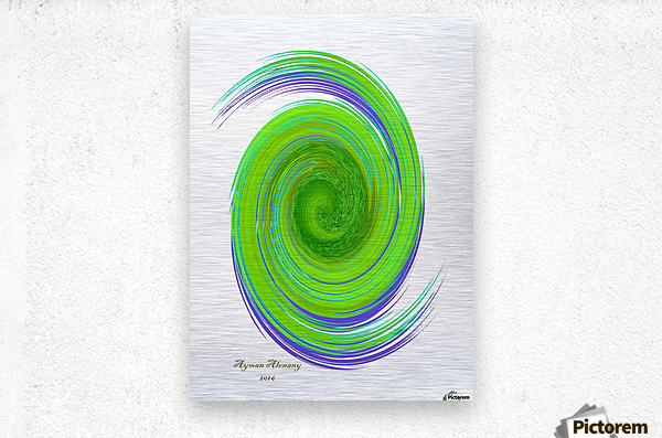 The whirl, W7.1A  Metal print