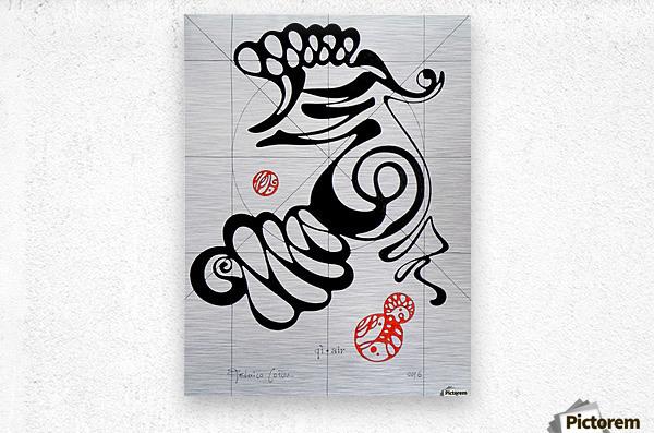 Qi air  Metal print
